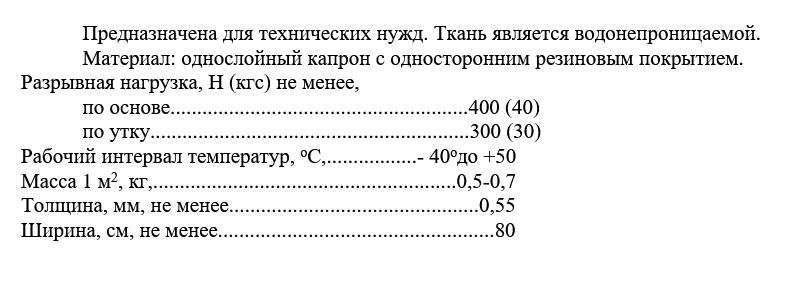 ТКАНЬ 1555  технические характеристики